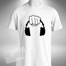 HAND Hold Cuffie T-SHIRT UOMO MUSICA DJ Discoteca Deep House Old Skool Raver