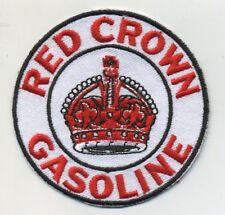 red crown gasoline patch badge hot rod drag race sales service station motor oil