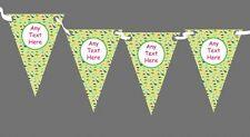 VERDE DINOSAURI PERSONALIZZATA Bambini Festa di Compleanno Bunting