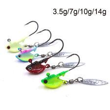 4 colors  Bass Tackle Hard Jig Head  Metal Spoons  Crank Bait VIB Fishing Lures