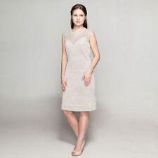 Strickkleid aus 100 % Leinen ärmellos Leinenkleid natur öko Sommer Kleid 1506