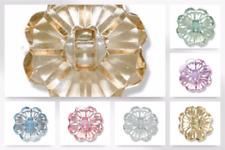 Impex Rhinestone Metal Heart Shape Charms Aquamarine-Each tj0389