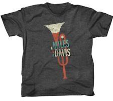Authentic Miles Davis Trumpet Slim Fit T-Shirt Heather Charcoal S-2XL NEW