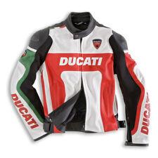 Para hombres Cuero Réplica Ducati Moto Chaqueta con protección de armadura CE