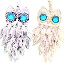 Vintage style chandelier leaf owl necklace, multiple choices