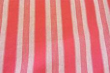 Stripe Red & Beige Cotton Curtain/Craft Fabric