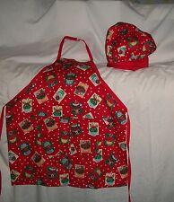 Christmas Cupcake Apron or Chef Hat Bag Homemade