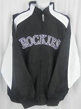 Colorado Rockies MLB Majestic Textured Full Zip Black Jacket Big & Tall Sizes