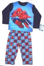 Marvel Spider-man Boys 2 Piece Pajama Set 100% Polyester Sizes 4 6 8 NWT