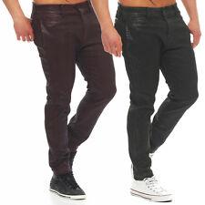 Diesel Jeans CHI-SHOPLOW 0669K Herren Hose Röhrenjeans Lederoptik rot - grün NEU