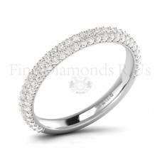 0.63ct Round Brilliant Cut Diamonds Half Eternity Wedding Ring in 950 Platinum