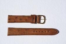 bracelet montre autruche véritable marron 18 mm