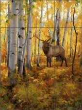 Elk Tile Backsplash Ceramic Mural Aldrich Wildlife Big Game Lodge Art RW-EA016