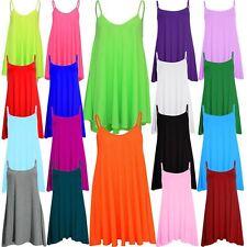 Nouveau Femmes Plus Size Hanky Cami swing manches Moins robe de gilet 36-50