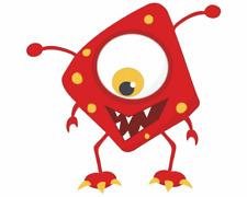 Fieses Monster Aufkleber Sticker Autoaufkleber Scheibenaufkleber