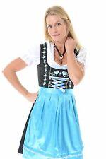 3pcs Authentic Oktoberfest Dirndl German Bavarian Dress Female Tracht BRGTBLUE