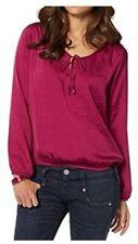 Herrlicher Damen Bluse Leana Fuchsia Shirt Satin 268186 Gr. S M L NEU