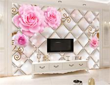 3D Pink Flower Silver Box 3 Wallpaper Mural Paper Wall Print Wallpaper Murals UK