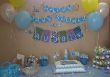 Baby Shower Azul Temática METALIZADO & Globos látex recién nacido ES BOY Mamá A