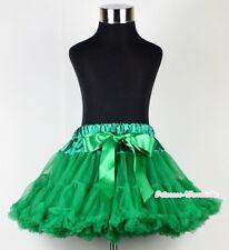 Kelly Green FULL Teen Adult Pettiskirt Pageant Dance Girl Dress Tutu 8-10Year