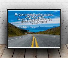 Christian Inspirational Poster - Psalms 27:1 Light Strength Salvation ALL SIZES