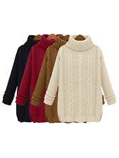 Women's Long Sleeve Crew Neck Batwing Sweater Tops Pullover Knitwear Outwear