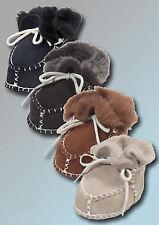 Playshoes lammfell-schuh Con Cordones Zapatos de bebé Calzado de piel de cordero