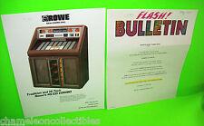 COMBO DISC By ROWE 1987 ORIGINAL JUKEBOX PHONOGRAPH MUSIC SALE FLYER + BULLETIN