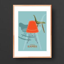 Charles Eames DSW Chair Print, Midcentury Furniture art print