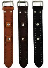 Nemesis Basic Standard Size Leather Cuff Watch Band Bracelet 20mm Vintage Style