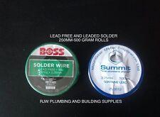 PLUMBERS SOLDER 500G  LEAD FREE/LEADED SOLDER 3.25MM DIAMETRE-SOLD BY THE METRE