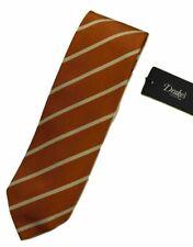 Drake's – Orange Repp Stripe Tie