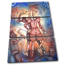 Zodiac Gemini  Starsign TREBLE TOILE murale ART Photo Print