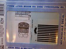 Microscale Decal N #60-4232 Emd Diesel - Demonstrator - Sd90Mac Dates:1997-99