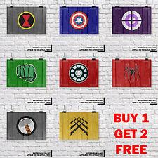 Marvel Comics Super Hero Wood Grain Kids Wall Art Print, Buy 1 Get 2 FREE