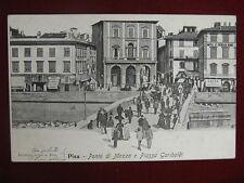 "PISA PONTE DI MEZZO- viagg, anim, ""900 #10666"