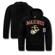 Black United States US Marine USMC Marines Military Pullover Hoodie Sweatshirt