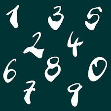 9 cm Zahlen Aufkleber Klebezahlen Ziffern Sticker 1 bis 200 Stück weiß SA-24