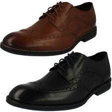 Hombre CLARKS prangley LIMITE Elegante Zapatos de PIEL CON CORDONES AJUSTE G