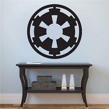Imperial Logo Wall Decal, Star Wars Wall Vinyl, Dark Side Logo Wall Sticker, g65