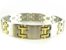 Men & Women Stainless Steel Magnetic Bracelet (2 Tone)