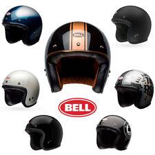 Bell Motorcycle Helmet Custom 500 Carbon Fiberglass DOT Open Face Street Scooter