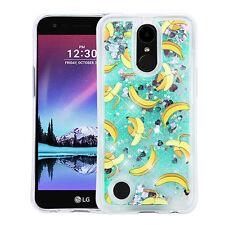 for LG K20 Plus /K10 (2017) BANANA YELLOW Bling Hybrid Liquid Glitter case Cover
