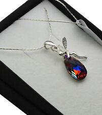 Collar de plata esterlina 925 hecha con cristales de Swarovski * volcán * Elfo/Hada