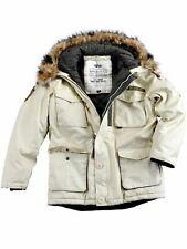 Alpha Industries Jacke Mountain Parka Winterjacke Off White Beige #5235