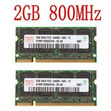 4GB 4GO (2x 2Go) 1GO PC2-6400S DDR2 800MHz 200Pin mémoire SO-DIMM pour Hynix FR