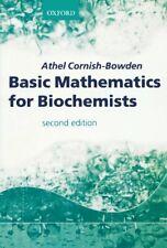 Basic Mathematics For Biochemists by Cornish-Bowden, Athel Paperback Book The