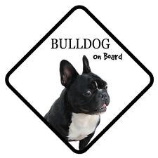 French Bulldog On Board Vinyl Car Van Sticker or Sign and Sucker Pet Lover