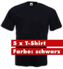 5 x Fruit of the Loom T-Shirt schwarz 195 gr. gute Qualität Arbeit