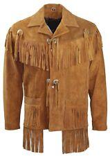Mens Suede Fringe Leather Jacket Men Suede Leather Fringe Jackets For Mens